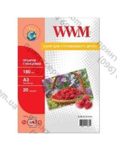 Изображение Фотобумага Premium A3 WWM 180 г/м2 20 листов