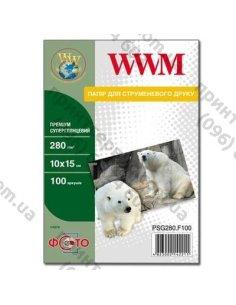 Изображение Фотобумага суперглянцевая WWM 10x15 Premium 280