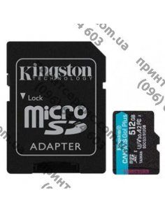 Изображение Карта памяти Kingston 512GB microSDXC class 10