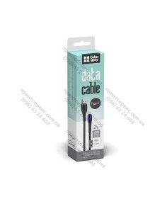 Изображение Кабель Colorway USB - Type-C (PVC + led) 2.4А 1м