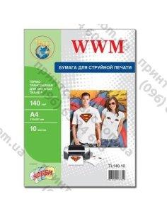 Изображение Фотобумага WWM A4 Termotransfers/White 140 г/м2 10