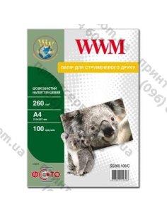 Изображение Фотобумага WWM A4 полуглянцевая 260 г/м2 100листов