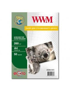 Изображение Фотобумага WWM шелк полуглянцевая A4 260 г/м2