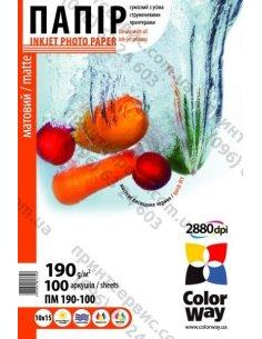 Изображение Бумага CW матовая 190г/м, 10x15 ПМ190-100