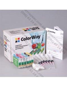 Изображение Комплект ПК ColorWay Epson TX650/T50/R290 +чернила